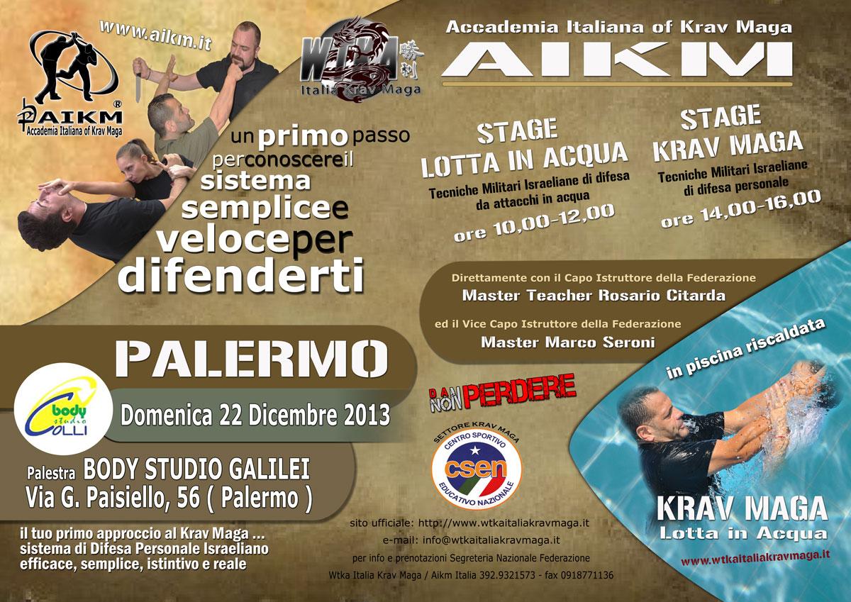 """Stage Krav Maga e Lotta in Acqua """" Palermo """""""
