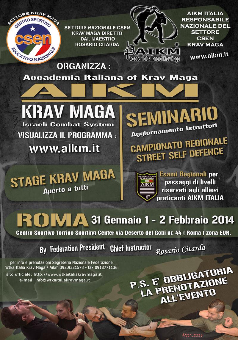 Seminario/Stage Krav Maga CSEN Aikm Reg. Lazio