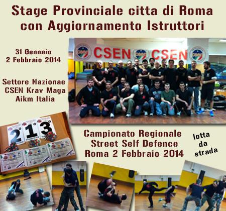 Stage Provinciale Roma con Aggior. Istruttori