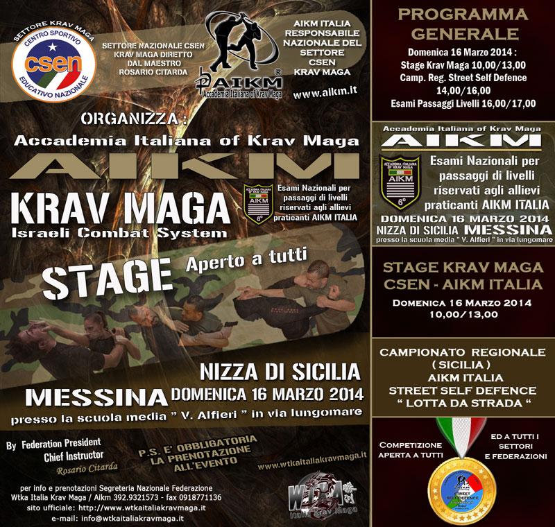 Stage KravMaga Nizza di Sicilia ME 16 Marzo 2014