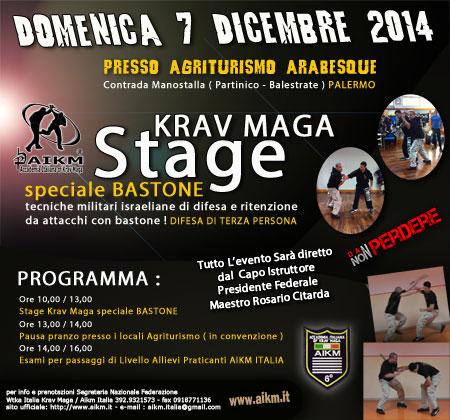 """Stage Krav Maga Speciale Bastone """" Difese e Ritenzione """""""