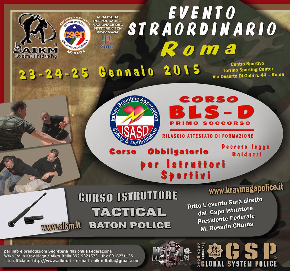 Corso Tactical Baton Police – BLSD Gen.2015 Roma