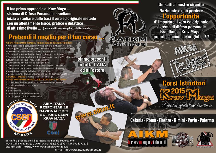 Corso Istruttore Krav Maga Palermo 1° Semestre 2015