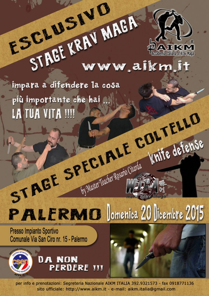 "Stage Krav Maga "" Speciale Coltello "" Knife Defense"