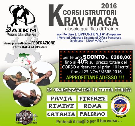Corsi Istruttori Krav Maga 2016 in tutta Italia