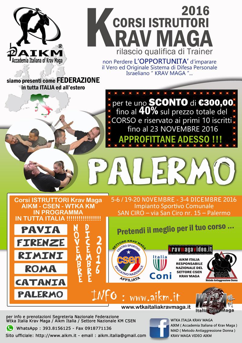 Corso Istruttore Krav Maga Palermo 2° Semestre 2016
