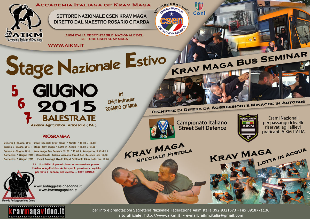 Stage Nazionale Estivo Federale 2015 Aikm – Csen
