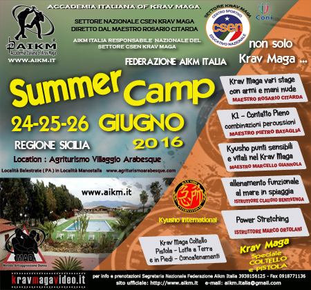 Summer Camp AIKM ITALIA Stage Estivo 2016